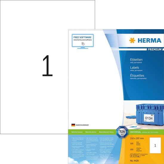 Herma Premium Etiketten 210x297mm 100 Stuks