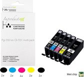 Improducts® Inkt cartridges - Alternatief Canon PGI-550 / CLI-551 XL multi pack