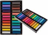Haarkrijt - tijdelijke haarkleuring 24 kleuren