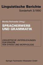 Spracherwerb Und Grammatik