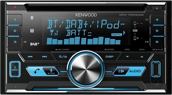 Kenwood DPX-7000DAB - 2DIN DAB-Tuner - Bluetooth - USB - CD-Receiver