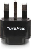 TravelMore Reisstekker Type G - Engeland -  UK - Verenigd Koninkrijk - Afrika - Universele stekker - Reis Verloopstekker - Wereldstekker - Reis Adapter - Compact