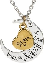 Fako Bijoux® - Ketting - Mom, I Love You To The Moon And Back