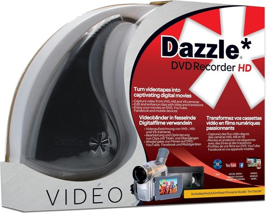 Dazzle DVD Recorder HD - Video Vastleg apparaat - Analoog to USB - Met Pinnacle Studio Software