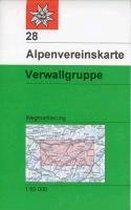 DAV Alpenvereinskarte 28 Verwallgruppe 1 : 50 000