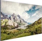 Berggebied Aluminium 60x40 cm - Foto print op Aluminium (metaal wanddecoratie)