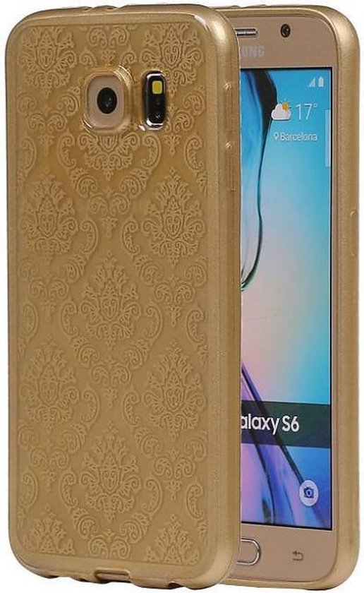 Samsung Galaxy S6 Hoesje TPU Paleis 3D Backcover Goud