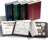 Luxe insteekalbum postzegels Comfort S 32 zwarte bladzijden - bordeauxrode kaft