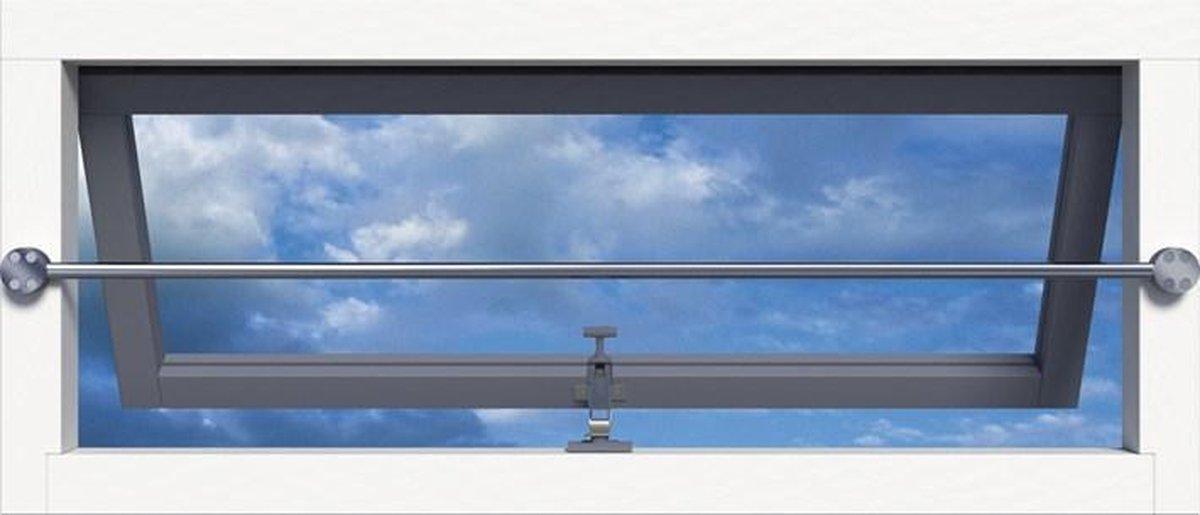 Secubar Set van twee aluminium steunen op de dag inclusief RVS stang SKG** 2010.355.0072