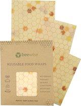 Bijenwas Doek   Beeswax Wrap   3 pack combinatie (S/M/L)   Herbruikbaar   Hive Pattern