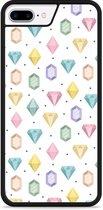 iPhone 7 Plus Hardcase hoesje Diamonds