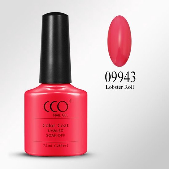 CCO Shellac-Blush Tangerine 09943-Coraalrood Rood-Gel Nagellak