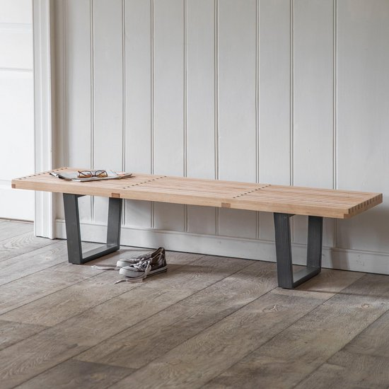Welp bol.com   Bankje hout - Scandinavische stijl - voor hal DK-28
