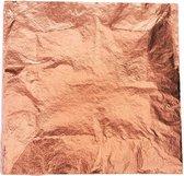 100X Bladmetaal Koper - Bladkoper - Slagmetaal in Koperkleur - Copper Leaf - Metaalfolie - Grote Vellen - 16x16cm - 100 Stuks A-kwaliteit