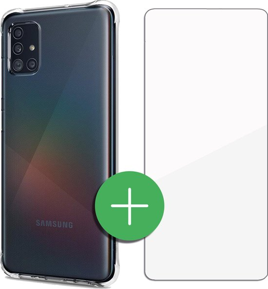 TORCE® Samsung A51 Hoesje Case Transparant + Gratis Glass Screenprotector