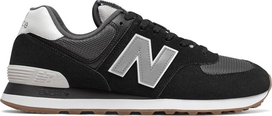 New Balance ML574 D Heren Sneakers - Black/Grey - Maat 45