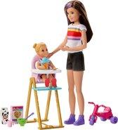 Barbie Skipper Babysitter Etenstijd Speelset - Barbiepop