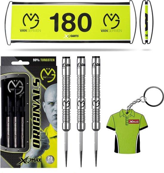 Michael van Gerwen - 90% Tungsten - dartpijlen - TRIPLE PACK - Michael van Gerwen dartpijlen - darts shafts - darts flights - 23 gram