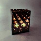 Infinity Light Cube - Waxinelichthouder - Glas - Kaarsjes Dubbel