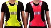 Avento - Veiligheidshesje Sport - 3M - Fluorroze - Reflectie - XS/S