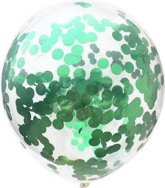 20 Groene Confetti Ballonen (30cm) - 3 gram confetti