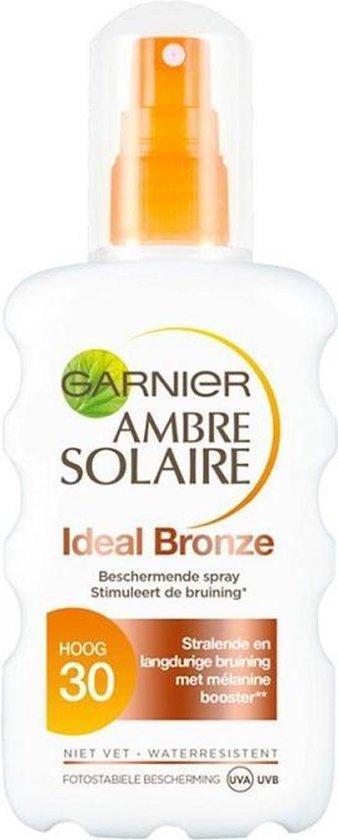 Garnier Ambre Solaire Ideal Bronze - SPF 30 Zonnebrandspray - 200 ml
