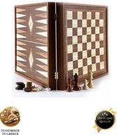 Classic Style 2-in-1 combo Schaken Backgammon 27x27 cm