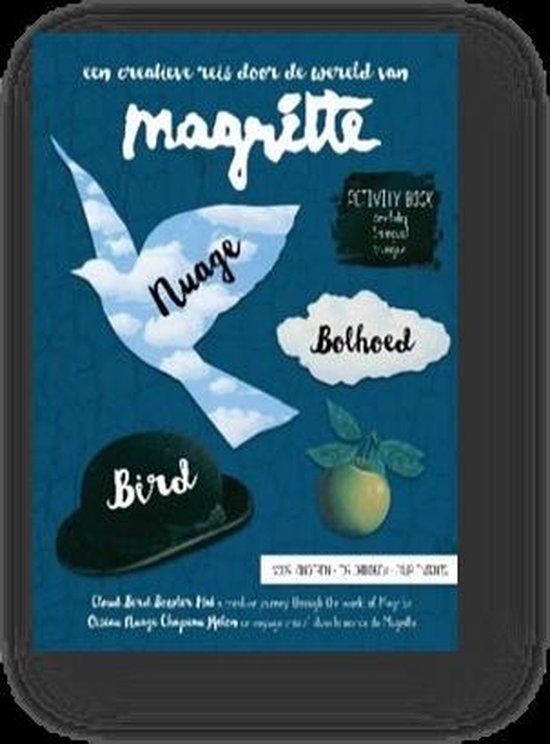 Magritte activity book voor kinderen - nuage, bolhoed, bird