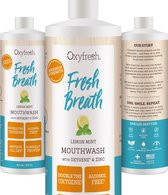 Oxyfresh Power Rinse Mondwater - Lemon-Mint - 473 ml