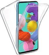 Samsung A51 Hoesje en Samsung A51 Screenprotector - Samsung Galaxy A51 Transparant 360 Case + Screenprotector