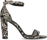 Sacha - Dames - Snakeskin sandalen met hoge hak