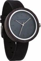 De officiële WoodWatch | Helsinki Black | Houten horloge dames