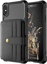 Card Case voor Apple iPhone XR | Zwart | PU Leren Back Cover | Wallet | Kaarthouder