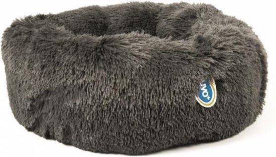 Duvo+ hondenmand donut met lang haar grijs 55x30x17 cm