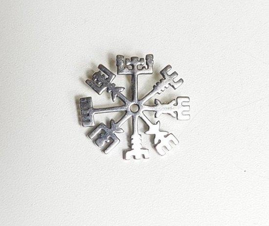 Vegvisir - zilver - viking - runencompas