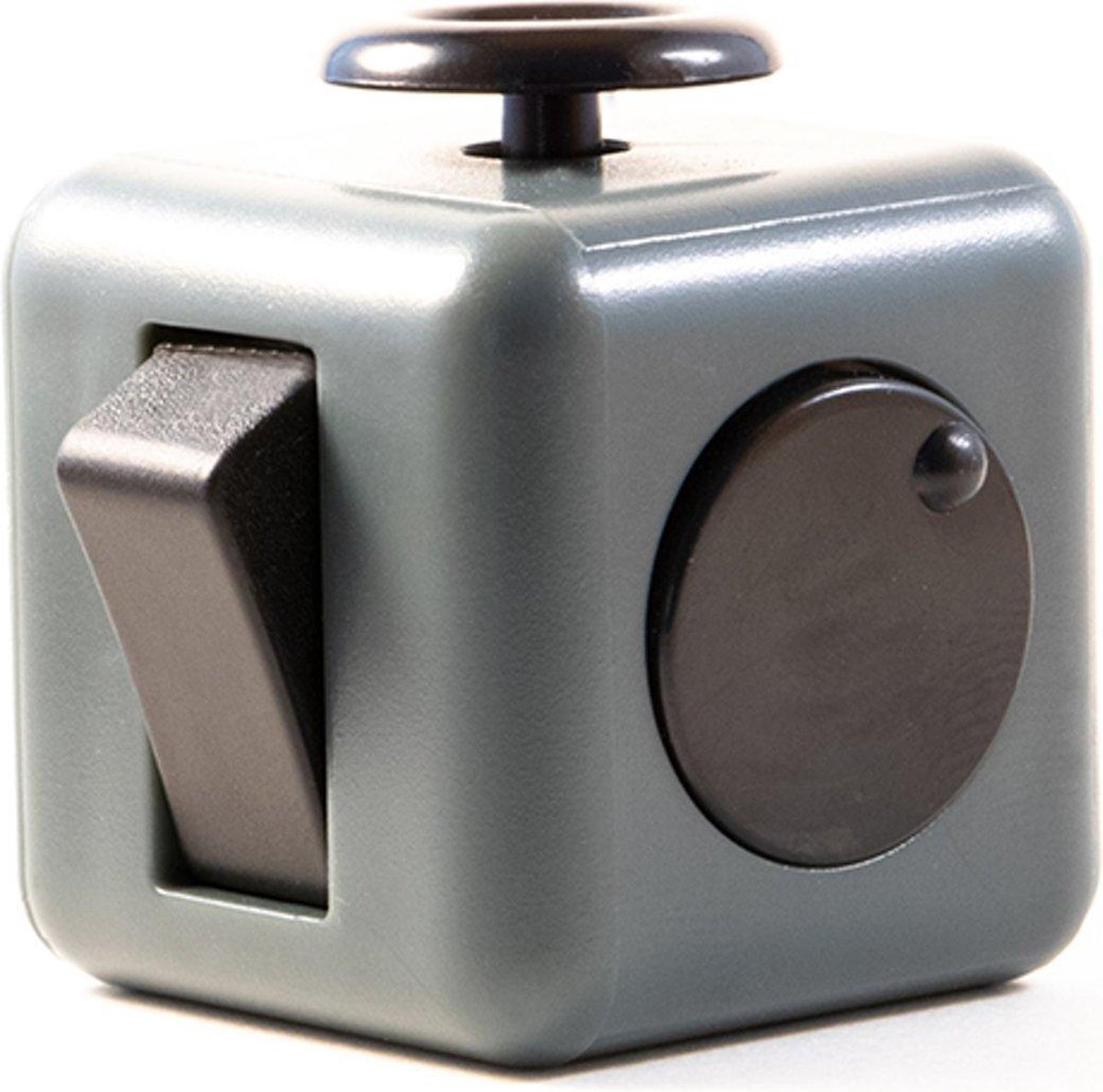 Fidget Cube Friemelkubus - Anti Stress Cube - Speelgoed Tegen Stress - Meer Focus & Concentratie - Fidget - Donkergrijs
