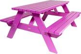 MaximaVida luxe houten picknicktafel Curaçao 180 cm roze - extra brede dwarsbalken en poten