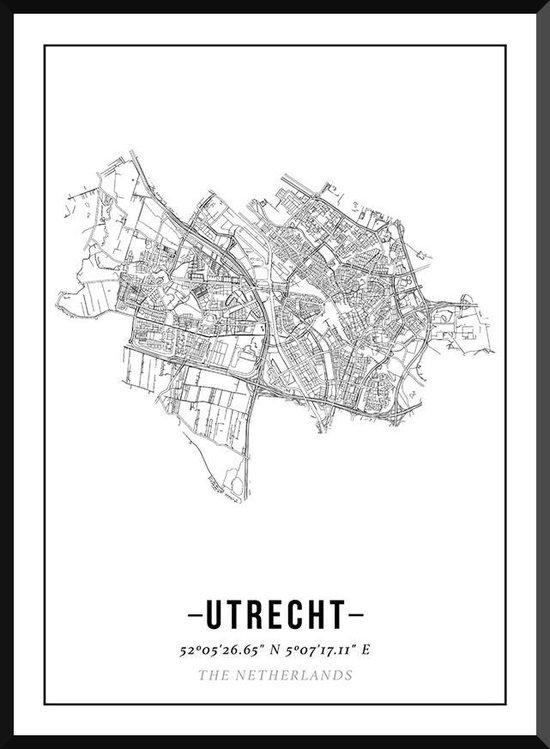 Utrecht poster | stadsposter | industrieel | zwart / wit - 40 x 30 cm