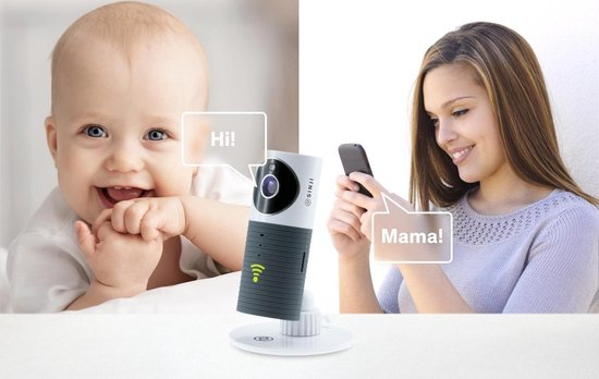 Cleverdog Smart Wi-Fi security camera - met Night vision - Grijs