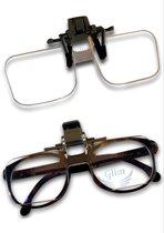 Vergrootglas bril – Loepbril – Vergrotende bril – Overzetbril – Inclusief opberghoesje, luxe brillendoek én gratis verzending