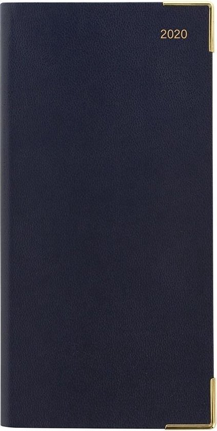 Letts of London Classic Slim Week to View Diary with Appointments/Notes/Planners 2020 Blue