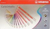 STABILO CarbOthello Kalk-Pastel Kleurpotloden - Metalen Etui 60 stuks