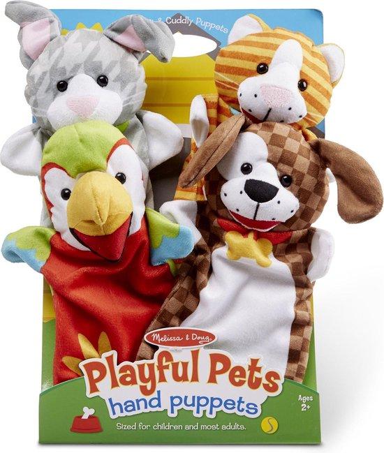 Melissa & Doug Handpoppen Playful Pets 4 Dieren