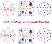 Edelsteen- en inspiratiekaarten | 6 stuks | 14,7 x 14,7 cm | set 4