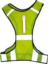 Ultiem Sportief Vest / Harnas - Ideaal voor Sporters in het Donker - Reflecterende Strips voor Zichtbaarheid - Hardloop Verlichting - Verstelbaar en Flexibel - Lichtgewicht - Meerdere Kleuren Beschikbaar