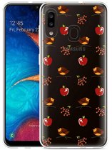Galaxy A20 Hoesje Apples and Birds