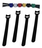 50x Kabelbinders Klittenband Hersluitbaar – Tie Wraps - Kabel Organiser - Zwart
