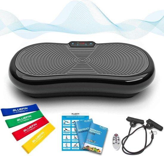 Bluefin Fitness Vibratietrainer | Trilplaat | Fitness | Bluetooth speaker | 180 Niveaus | 5 Programma's | Afstandsbediening | Nieuw Design