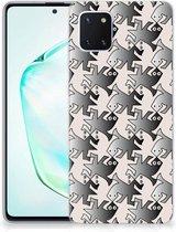 Samsung Galaxy Note 10 Lite TPU Hoesje Salamander Grey