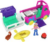 Polly Pocket Pollyville Kampeerwagen - Speelset